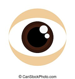 bruine , oog, pictogram