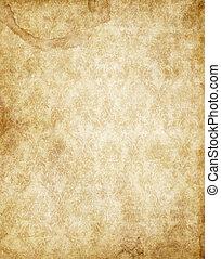 bruine , oud, ouderwetse , textuur, papier, gele, perkament
