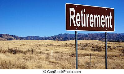 bruine , pensioen, wegaanduiding
