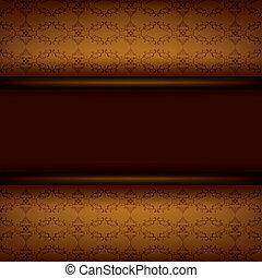 bruine , plank, ouderwetse , achtergrond, decoratief
