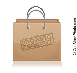 bruine , product, papier, organisch, zak