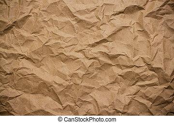 bruine , verfrommeld papier, omhulsel