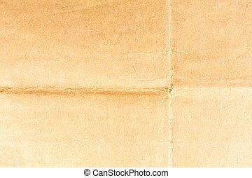 bruine , verfrommeld papier, oud