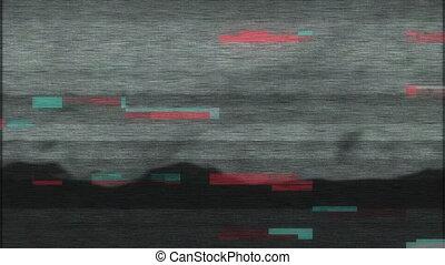 bruit, damage., stylisé, glitch, 4k, erreur, pixel