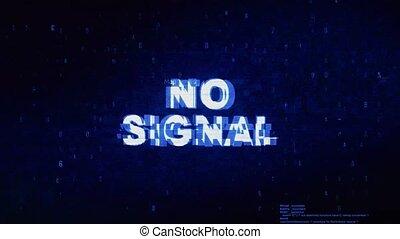 bruit, non, texte, signal, numérique, effet, déformation, glitch, erreur, tic, animation.