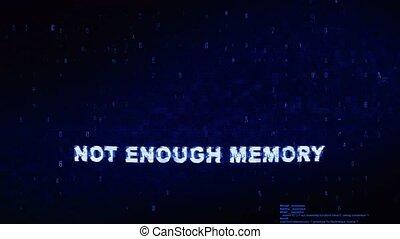 bruit, texte, animation., erreur, effet, déformation, glitch, assez, numérique, mémoire, pas, tic, boucle