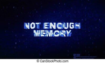 bruit, texte, animation., erreur, effet, déformation, glitch, assez, numérique, mémoire, pas, tic