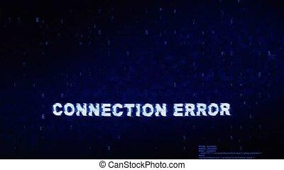 bruit, texte, animation., numérique, effet, déformation, glitch, connexion, erreur, tic