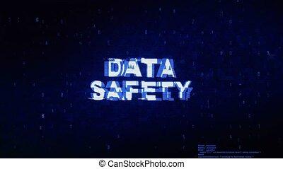 bruit, texte, animation., numérique, effet, déformation, glitch, sécurité, erreur, tic, données