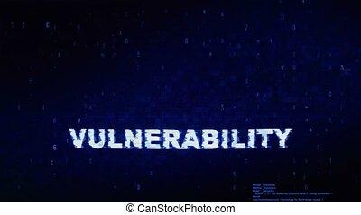 bruit, texte, animation., vulnérabilité, effet, déformation, glitch, numérique, erreur, tic