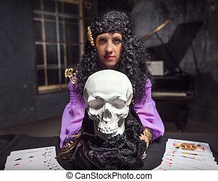 bruja, practicar, brujería