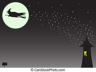 bruja, rastro de la estrella