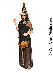 bruja, tenencia, frutas
