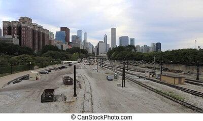 brumeux, transit, train, horizon, chicago