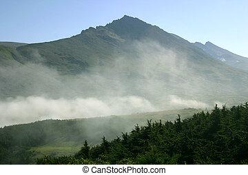 brumoso, montaña