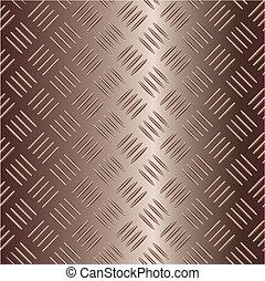 brunâtre, vecteur, cliché métal