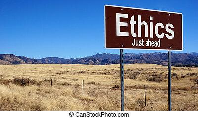 brun, éthique, panneaux signalisations