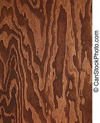 brun, abstrakt, træ, plywood, tekstur