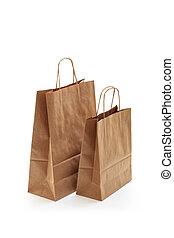 brun, achats, bags.