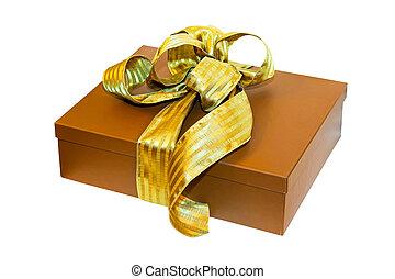 brun, angle, cadeau