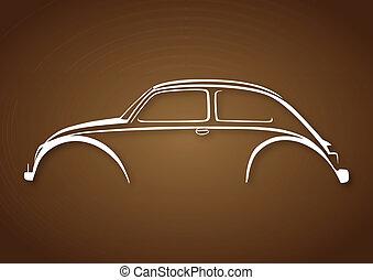 brun, auto, sur, doux, logo, blanc