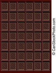 brun, barre chocolat, délicieux, modèle