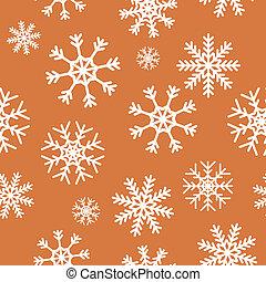 brun, blanc, flocons neige, fond