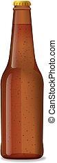 brun, bouteille bière