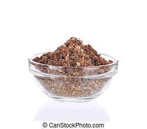 brun, bowl., sucre, verre