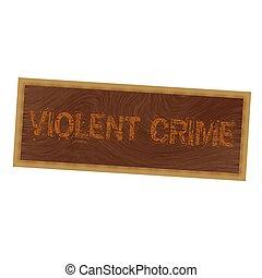 brun, cadre graphique, crime, violent, bois, fond, orange, rédaction