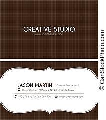 brun, carte affaires, créatif