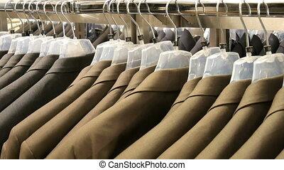 brun, centre commercial, gris, mall., hommes, pendre, procès...