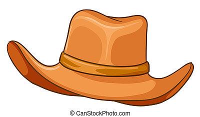 brun, chapeau