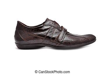 brun, chaussures