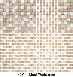 brun, couleur, mur, délicat, carreau, mosaïque