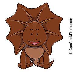 brun, dessin animé, illustration, iguane