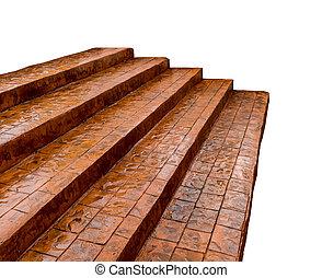 brun, escalier, béton