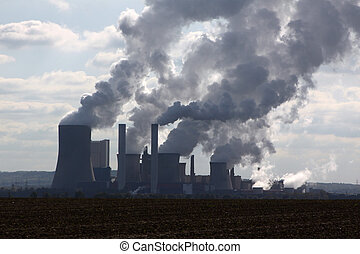 brun, exploitation minière, ouvert, charbon