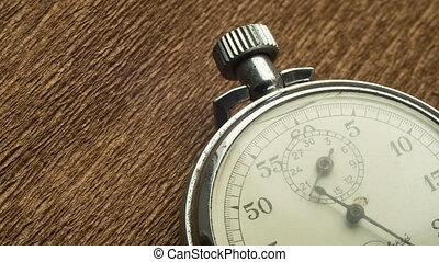 brun, flèche, vendange, fond, chronomètre, blanc, tourne, structural