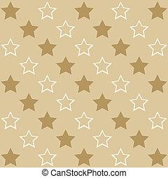 brun fond, med, stjärnor