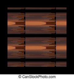 brun, formulaire, modèle, ornement, ethnique, géométrique, bambou