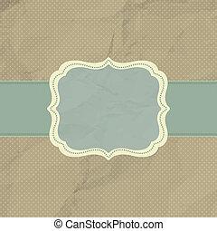 brun, frame., årgång, polka, eps, 8, design, punkt
