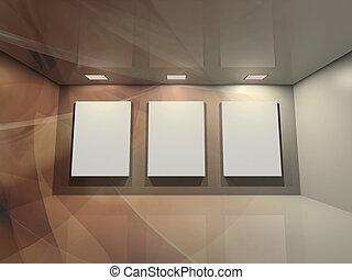 brun, -, galerie, virtuel