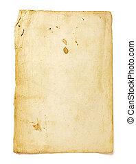 brun, gamle, avis