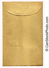 brun, gammal, kuvert