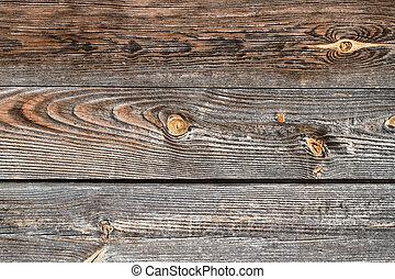 brun, gammal, ridit ut, trä, årgång, grå, bakgrund.,...