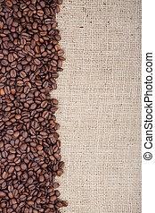 brun, grains café, rôti