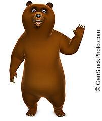 brun, grizzly björn