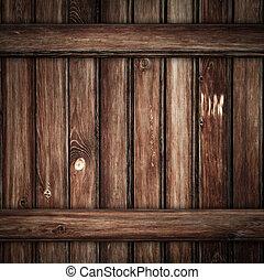 brun, grunge, mörk, ved, bakgrund, plankor