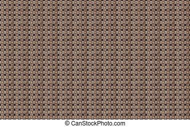 brun, guld, mönster